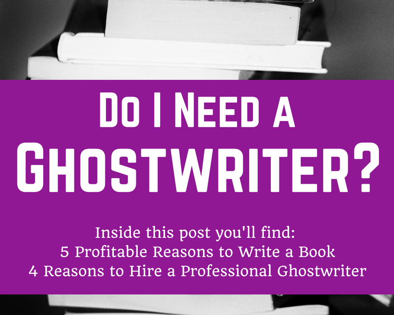 Do I Need a Ghostwriter?